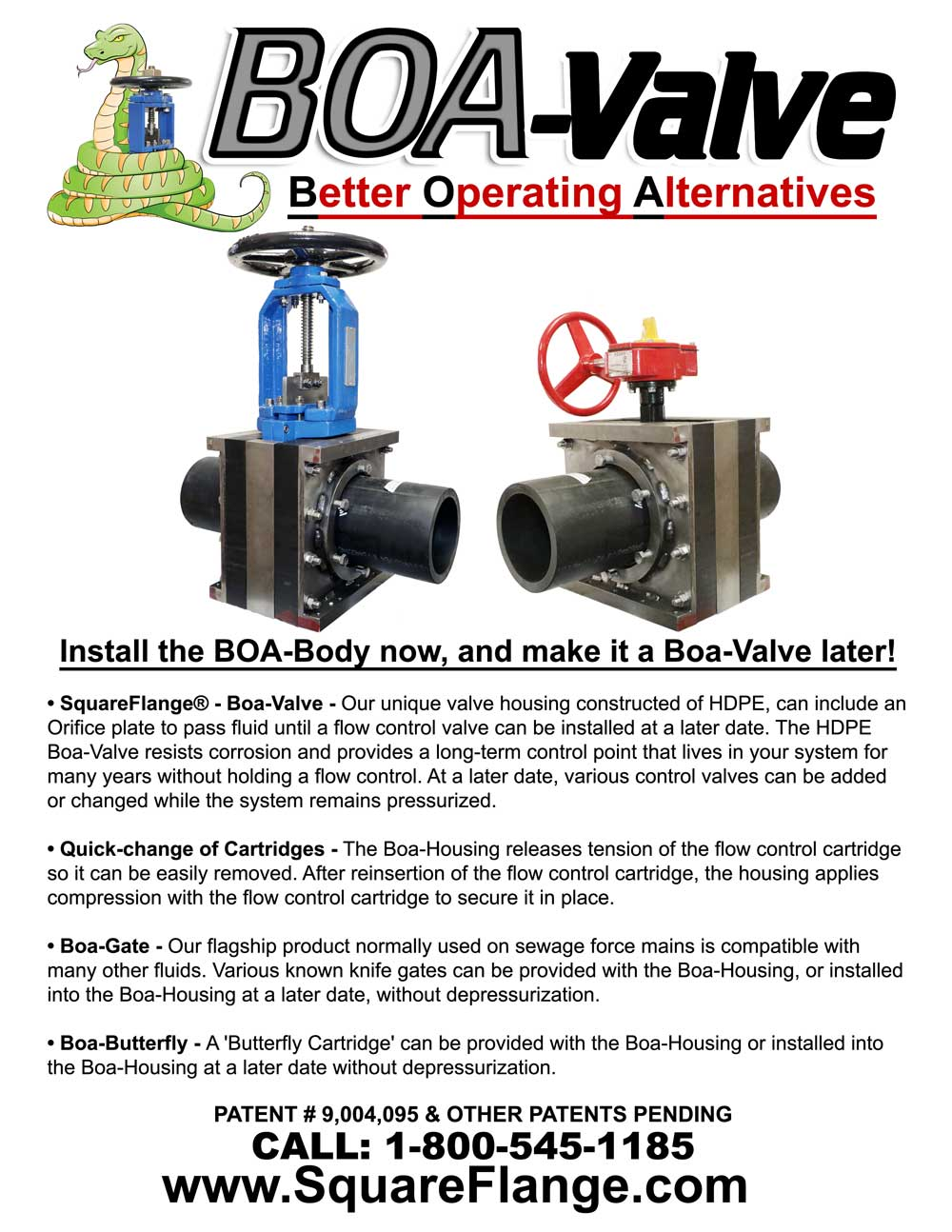 BOA-Valve Better Operating Alternatives