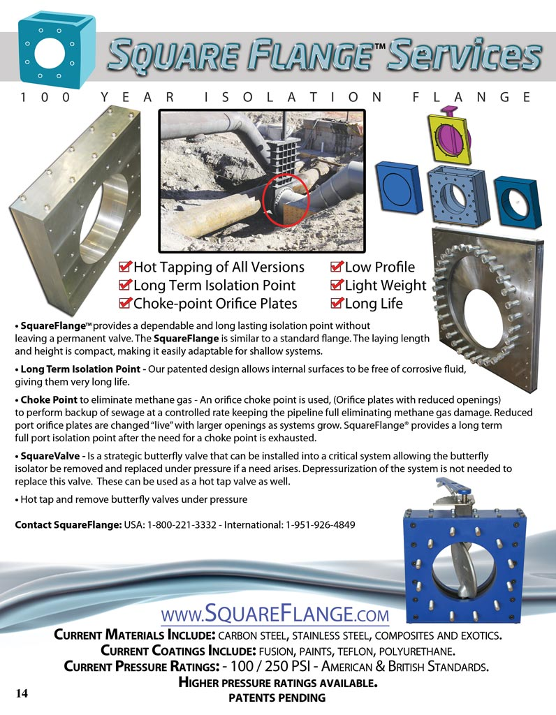 Square Flange™ Tapping Valve Info Sheet